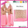 Leopard Scarf, Fashion Lady Scarf, Hot Pink Chiffon Scarf
