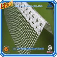 C-glass 10*10 pvc corner with fiberglass mesh,8*8 pvc corner mesh,reinforcement concrete 5*5 mesh pvc corner