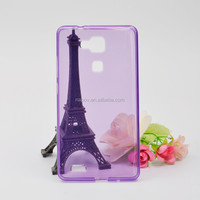 Newest Glossy TPU Cell Phone Back Cover Case for Huawei Ascend Mate 7