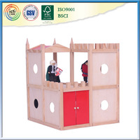 Pop up screen house is Pretty cute wooden dollhouse