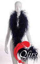 New arrival plumage cheap dyed black ostrich feather boa