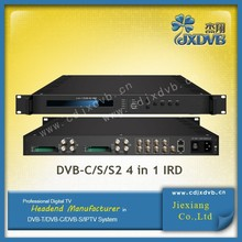 DVB-T2 Tuner To IP And ASI Satellite Receiver Decoder with UDP/RTSP/RTP