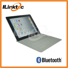 Waterproof keyboard case Slim Bluetooth printing letters keyboard & leather case portable for ipad 2 3 4