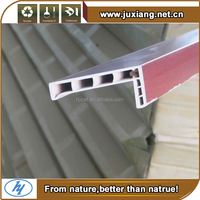 House decoration material nature wood and plastic composite wpc solid door frame and solid architrave