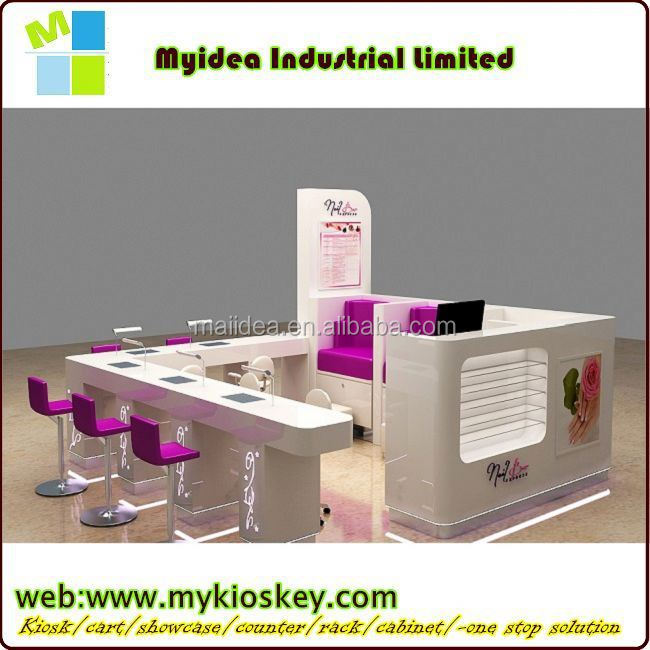White Manicure Table Of Nail Salon Equipment For Sale