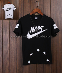 men's printed T shirt OEM 100% cotton made in China wholesale