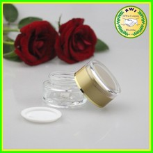 face cream container /round cream glass jars for cosmetics packaging