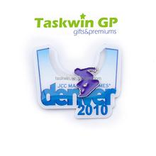 Fashional custom sport pin badge for Denver city / Winter sport skiing metal badge