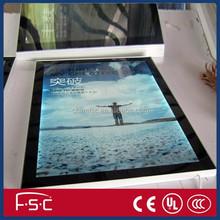 shenzhen led indoor aluminum magnetic poster frame light box for menu billboard