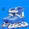 PU or PVC light wheel roller skate shoes