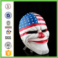 factory custom-made handmade carved fashion resin payday mask