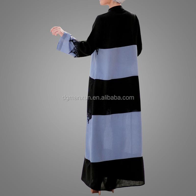 Muslim religious items wholesale front open abaya  lace abaya  Kaftan dubai 2017 (2).jpg