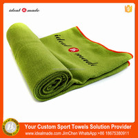Custom Logo With Printed Label Microfiber Towel For Fitness