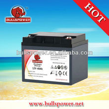 Deep cycle vrla battery,OPZS flooded battery 12v40ah with good quality