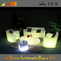 Guangdong good quality outdoor bar furniture led party decoration coffee table and chairs
