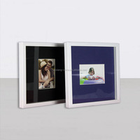 Best quality Shadow box frame Double Mat 1-opening window frame Heart Shaped Picture Frames