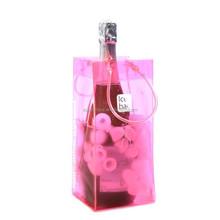Low toxic pinky pvc vinyl ice bucket wine cooler bag