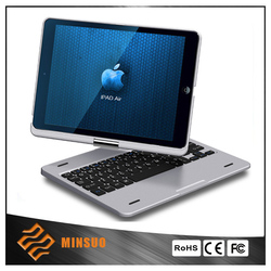 360 rotating silicon cases keyboard for ipad