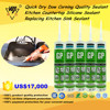 Quick Dry Dow Corning Quality Sealant/Kitchen Countertop Silicone Sealant/Replacing Kitchen Sink Sealant