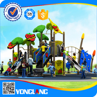 outdoor playground equipment climbing frames with stainless steel slides