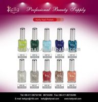 Fashionable glitter Kelly brands rainbow color nail polish