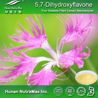 Herbal Extract-Natural 5,7-Dihydroxyflavone Chrysin 99% 98% in Bulk CAS 480-40-0