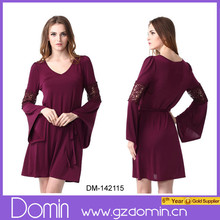 New Fashion Long Sleeve Ladies Dress