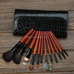 powder novelty natural goat hair kabuki 12pcs cosmetic brushes with belt