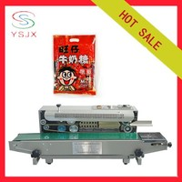 Horizontal continuous heat plastic pouch sealing machine