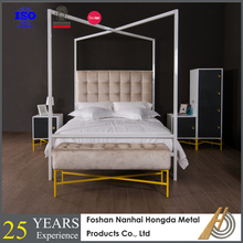 white four poster canopy double bed design
