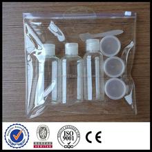 EVA PVC travel zip plastic bag for small sample cosmetic