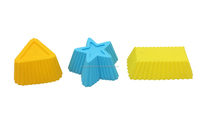 Star shape silicone cupcake case mould for funny baking