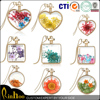 2015 new arrival dried flowers glass locket necklaces jewelry, fashion necklace