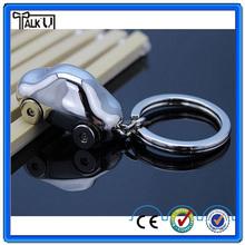 Classic custom promotional gift brand name logo car shape metal keychain/souvenir gift rotatable wheel car metal key ring