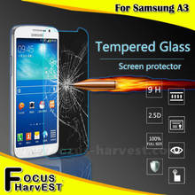 Wholesale For Phone accessories 9H 0.33/0.4mm 2.5D Tempered Glass Screen Protector For sumsung A3 welcome OEM/ODM