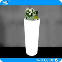 Alibaba express remote control LED glowing light flower pot / LED magic round flower pot