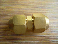 brass male double ferrule round tube fittings