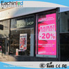 full colour LED video display board or a low budget shop window screen
