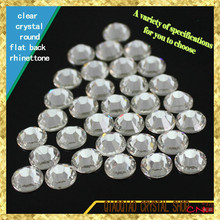 boutique non-hotfix new deal clear white crystal SS3-40 round flatback crystal rhinestone