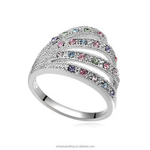 Factory direct sell Hot design fashion ring alloy real silver ring
