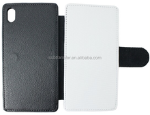 Great quality sublimation blank wallet flip leather phone case for Sony Z3