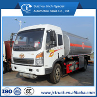 China Famous FAW 15000 liter oil tanker price