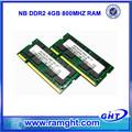 Ce fcc rohs 800 mhz pc2-6400 ddr2 4gb de memoria