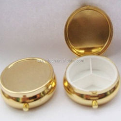 Super quality best selling cheap new design round metal pill case