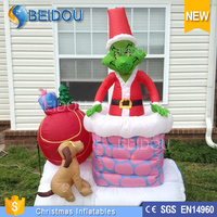 Hot Sell House Guilder LED Christmas Grinch inflatables For Decorations