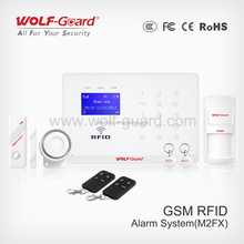 Wireless Intruder Security GSM Home Alarm System with APP control and alarm relay switch for house safety and burglar alarm