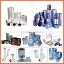 hot shrink pack plastic film with roll,piece types options