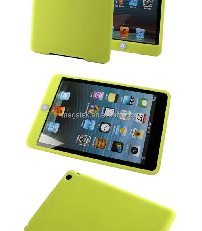 Tablet case cover for ipad rubber silicone case for mini ipad case