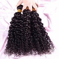 "free shipping 3pcs 26"" 26"" 26"" water weave brazilian natural curly hair"