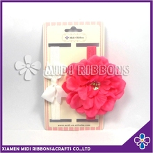 hot sales handmade big fabric flower elastic infant headband